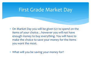 First Grade Market Day