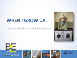 When I Grow Up PowerPoint