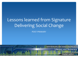 Lessons learned from Signature