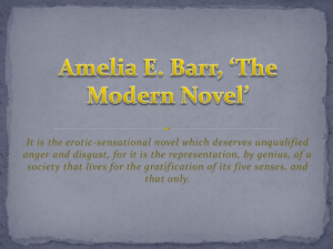 Amelia E. Barr, *The Modern Novel*