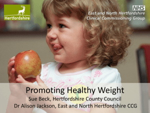Promoting healthy weight