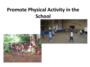 I15: Physical Activity at School, 11 Aug 2014