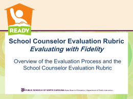 CACG School Counselor Evaluation Rubric 10.1.13