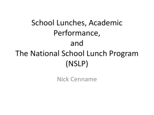 Timeline Powerpoint (School Lunches)