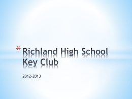 2012-2013 summary - Richland high key club