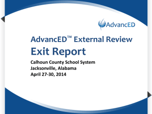 AdvancEDTM External Review Exit Report