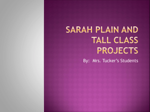 Sarah Plain and Tall Class Projects