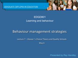 on Quality Schools