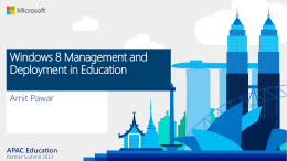 Windows 8 Management and Deployment in Education