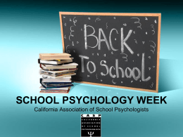 School Psychology Week - California Association of School