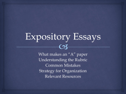 outliers group chapter presentation discussion suggestions expository essays mrs loux`s english class