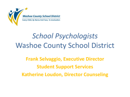 School Psychologists Washoe County School District
