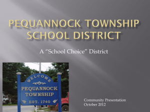 Why choose Pequannock Township?