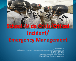 School-Wide Crisis Management Presentation