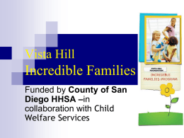 Vista Hill Incredible Families