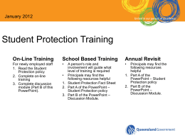 Student Protection Training