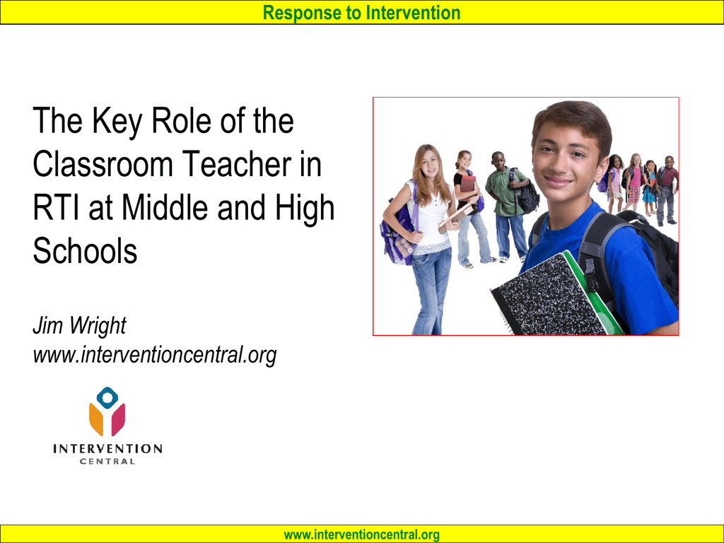 RTI in Middle and High Schools