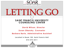 LETTING GO - Saint Francis University