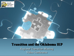 Transition: Where does it go on the IEP?