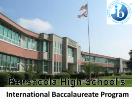 Recruitment Powerpoint - PHS International Baccalaureate