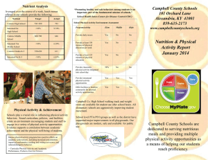 Nutrition and Physical Activity Report