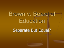 Brown v Board PP