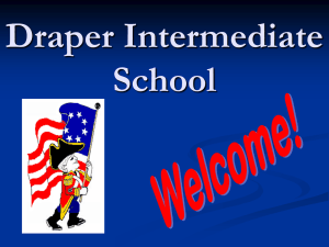 Draper Intermediate School Day