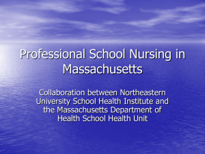Professional School Nursing in Massachusetts