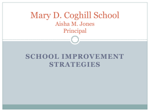 Mary D. Coghill School Aisha M. Jones Principal - OPEN-NOLA