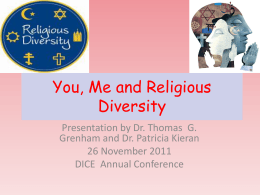 Me, You and Religious Diversity