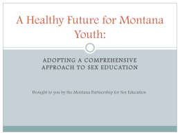 PowerPoint by Montana Partnership for Sex Education