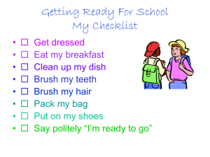 Getting Ready For School My Checklist