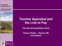 Teacher appraisal and the link to pay