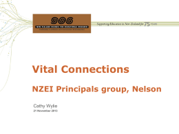 Vital Connections - Nelson Principals Association