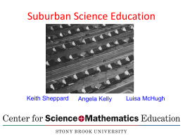 Suburban Science Education and High Needs Schools
