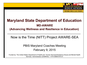 Project AWARE - PBIS Maryland Home