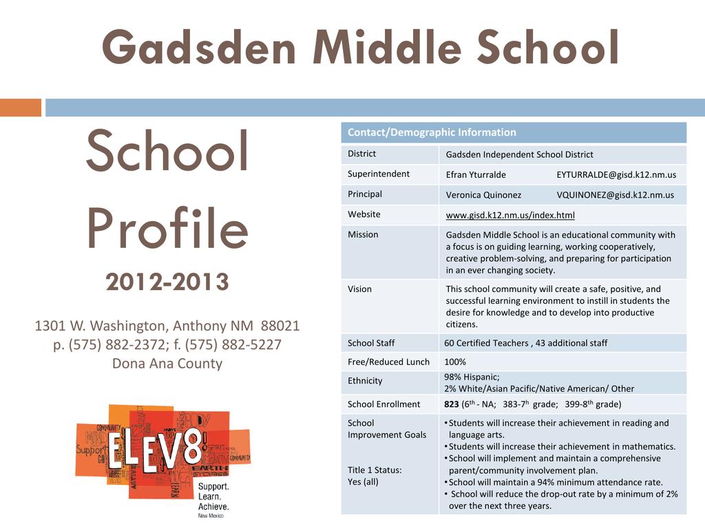 Program Presentation - Gadsden Independent School District