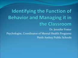 Behavior presentation - Perth Amboy Public Schools
