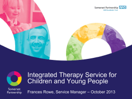 Integrated Therapy Service - Somerset children & young people