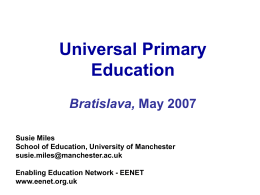 Susie Miles Universal Primary Education 1