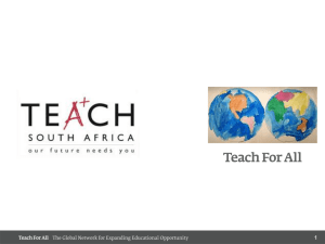 Teacher Devt - SAESC -Teach SA Pres- May 2014