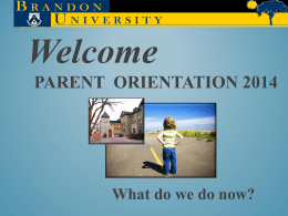 2014 Parent Orientation Power Point