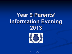 Year 8 Parents Information Evening