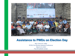 Assistance to Person with Disabilities
