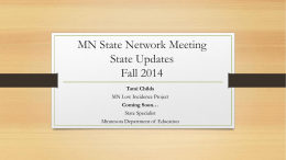 State Updates Powerpoint