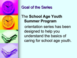 Module 7: Programing for School Age Youth - MnAEYC