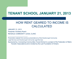 How Rent Geared to Income is Calculated