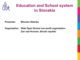 School system in Slovakia