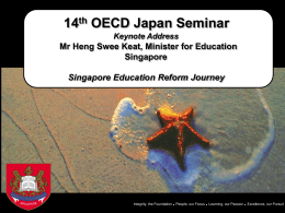 14th OECD-Japan Seminar Presentation Slides for Minister`s