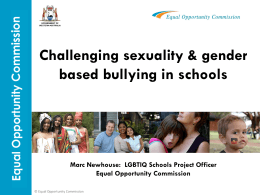 Challenging Gender & Sexuality Based Bullying and Discrimination